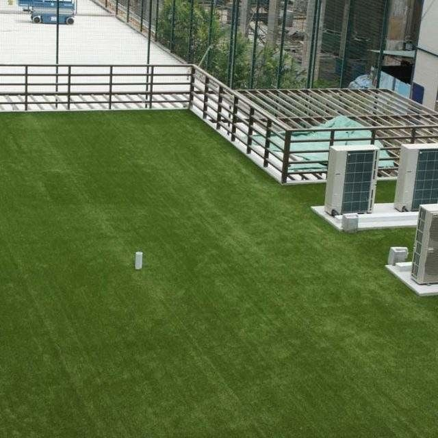 Polyethylene Low Cost  Artificial Grass On Flat Roof  20-40 Mm Height